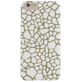 Gold Giraffe Print Barely There iPhone 6 Plus Case