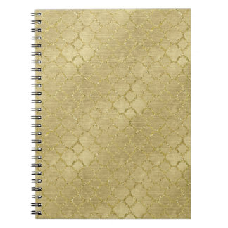 Gold Glam Abstract Notebook
