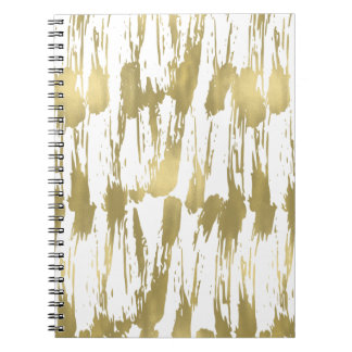 Gold Glam Abstract Notebooks