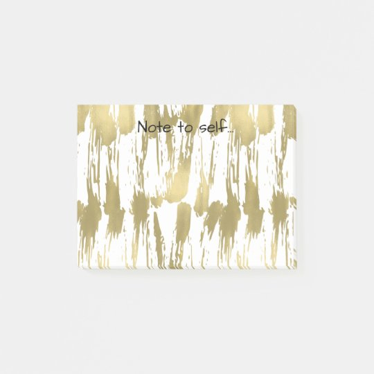 Gold Glam Abstract Post-it Notes