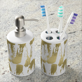 Gold Glam Abstract Soap Dispenser