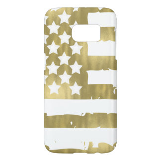 Gold Glam Abstract USA Flag Samsung Galaxy S7 Case