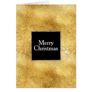 Gold Glam Black White Christmas Card