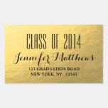Gold Glam Class of 2014 Graduation Address Sticker