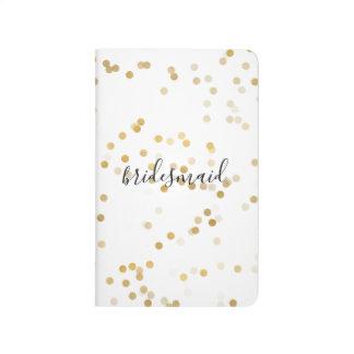 Gold Glam Confetti Bridesmaid Journal