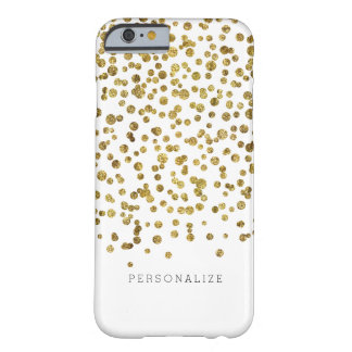 Gold Glam Confetti Dots Barely There iPhone 6 Case