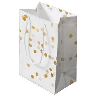 Gold Glam Confetti Medium Gift Bag