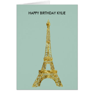 Gold Glam Eiffel Tower Card