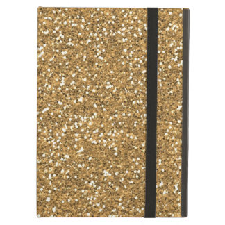 Gold Glam Faux Glitter Case For iPad Air