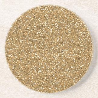 Gold Glam Faux Glitter Coaster