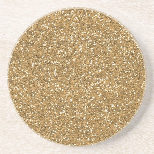 Gold Glam Faux Glitter Coaster