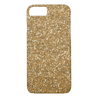 Gold Glam Faux Glitter iPhone 7 Case