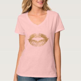Gold Glam Lips T-Shirt