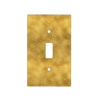 Gold Glam Sparkles Light Switch Cover