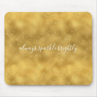 Gold Glam Sparkles Mouse Pad