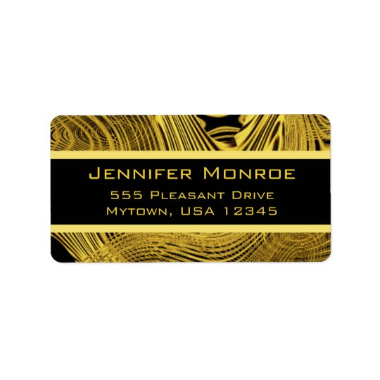 Gold GlamBackground Template Label
