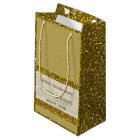 Gold Glitter 50th Golden Wedding Anniversary Small Gift Bag