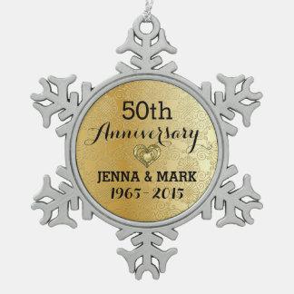 Gold Glitter 50th Wedding Anniversary Ornament