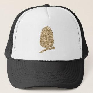 Gold Glitter Acorn Trucker Hat