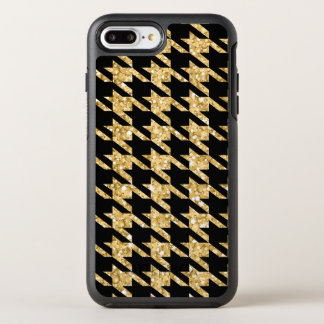 Gold Glitter And Black Houndstooth OtterBox Symmetry iPhone 7 Plus Case