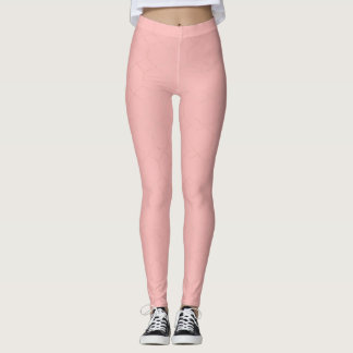Gold glitter and blush pink diamonds leggings