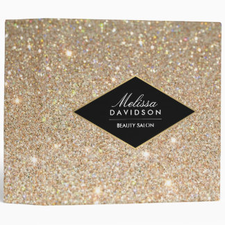 Gold Glitter and Glamour Beauty Binder