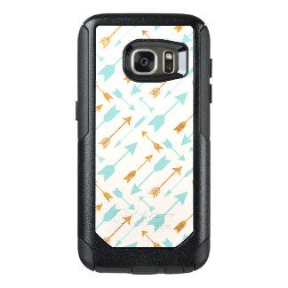 Gold Glitter Aqua Arrows OtterBox Galaxy S7 Case