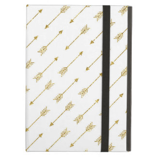 Gold Glitter Arrows Pattern iPad Air Cover