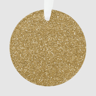 Gold Glitter Background Template Ornament