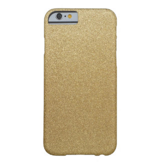 Gold Glitter Barely There iPhone 6 Case