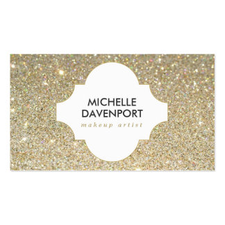 GOLD GLITTER BEAUTY, MAKEUP ARTIST, SALON PACK OF STANDARD BUSINESS CARDS