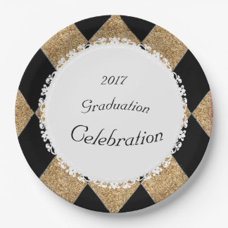 Gold-Glitter-Black-Diamonds-Celebration(c)TEMPLATE Paper Plate