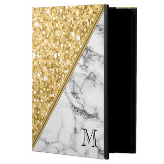 Gold Glitter Black White Marble White Sparks Powis iPad Air 2 Case