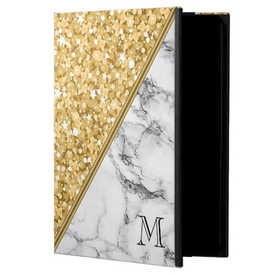 Gold Glitter Black White Marble White Sparks Powis iPad Air 2 Case
