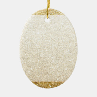 gold glitter blank template for customization ceramic oval ornament