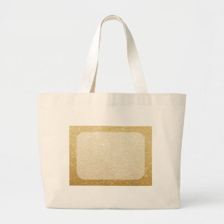 gold glitter blank template for customization large tote bag