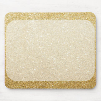gold glitter blank template for customization mouse pad