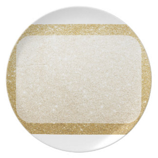 gold glitter blank template for customization party plate