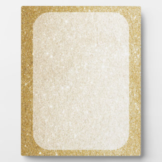 gold glitter blank template for customization plaques