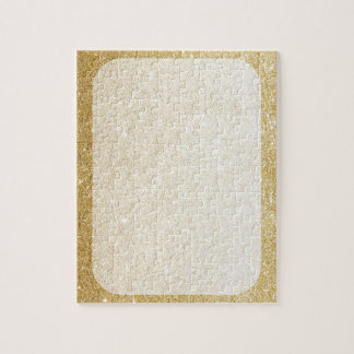 gold glitter blank template for customization puzzle