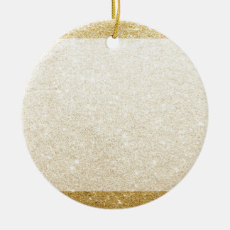 gold glitter blank template for customization round ceramic ornament
