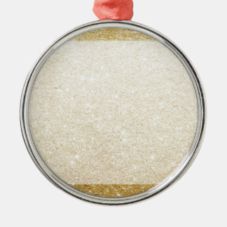 gold glitter blank template for customization Silver-Colored round ornament