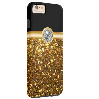 Gold Glitter Bling Tough iPhone 6 Plus Case