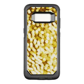Gold Glitter Bokeh OtterBox Commuter Samsung Galaxy S8 Case