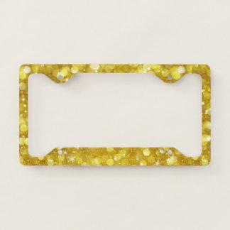 Gold Glitter Bokeh Style Licence Plate Frame