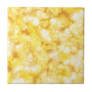 Gold Glitter Bokeh Tiles