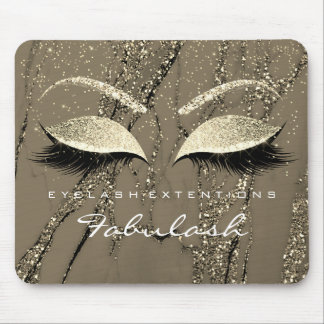 Gold Glitter Branding Beauty Studio Lashes Marble Mouse Pad