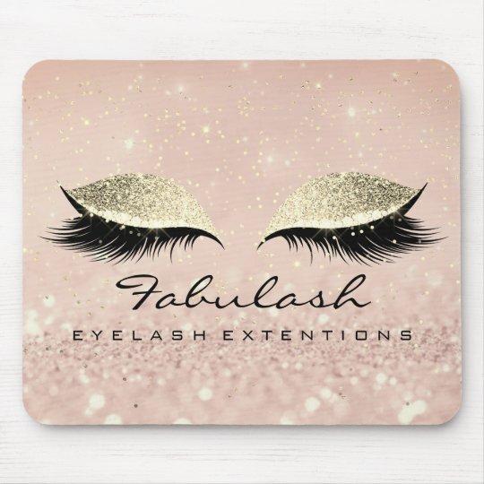 Gold Glitter Branding Makeup Artist Lashes Mouse Pad