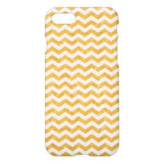 Gold Glitter Chevron - iPhone 7 case