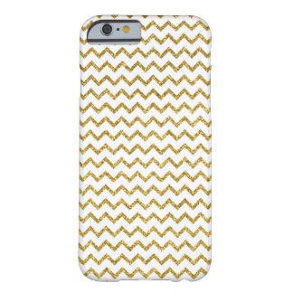 Gold Glitter chevron zig zag pattern Barely There iPhone 6 Case
